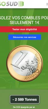 Capture d'écran du site internet mobile IsoSud