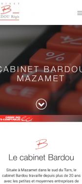 Capture d'écran du site internet mobile Cabinet Bardou