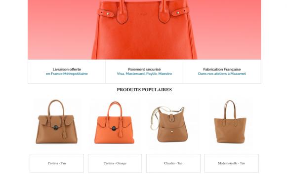 Capture d'écran du site internet Berthille
