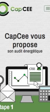 Capture d'écran du site internet mobile CapCEE