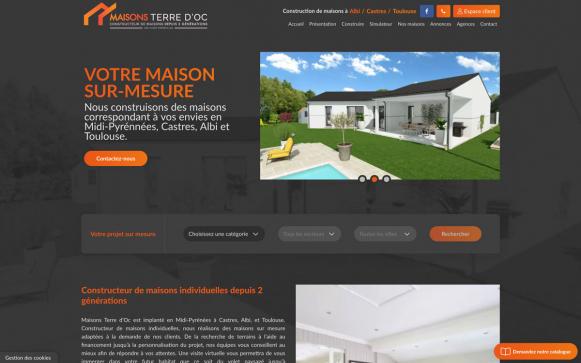 Capture d'écran du site de Maison Terre D'Oc