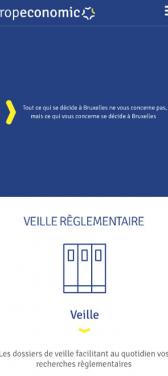 Capture d'écran du site internet mobile Europeconomic