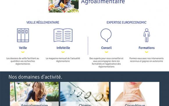 Capture d'écran du site internet Europeconomic