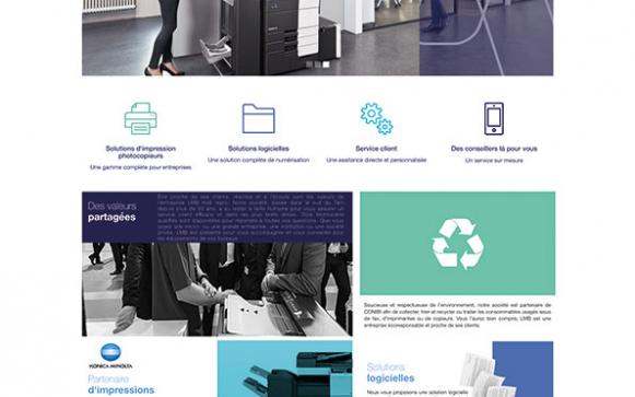 Capture d'écran du site internet LMB Technologies