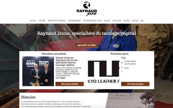 Capture d'écran du site internet Raynaud Jeune