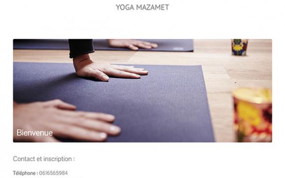 Capture d'écran du site internet Yoga Mazamet