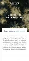 Capture d'écran mobile site Tonivet